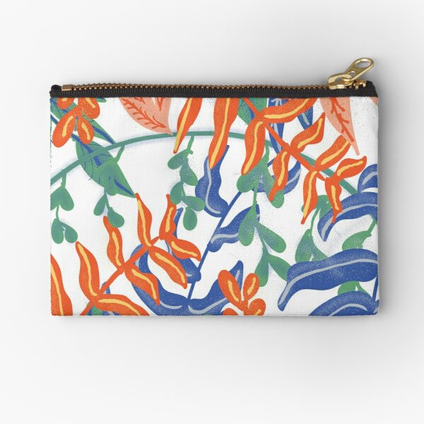 Abstract Tropical Pattern II Zipper Pouch