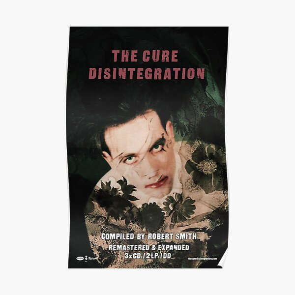 The Cure Poster, Pillow, etc.- Robert Smith Disintegration Poster