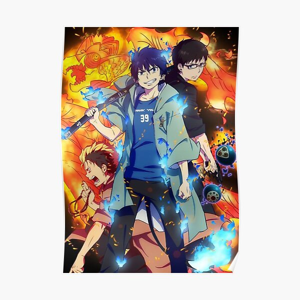 Ao no Exorcist Póster