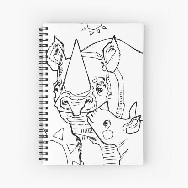 Rhinoceros, Coloring Book Image Spiral Notebook