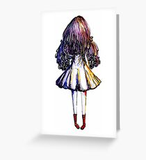 Girl and Red Doc Greeting Card