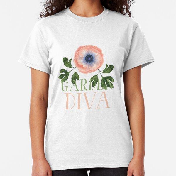 Pink Poppy Garden Diva Classic T-Shirt