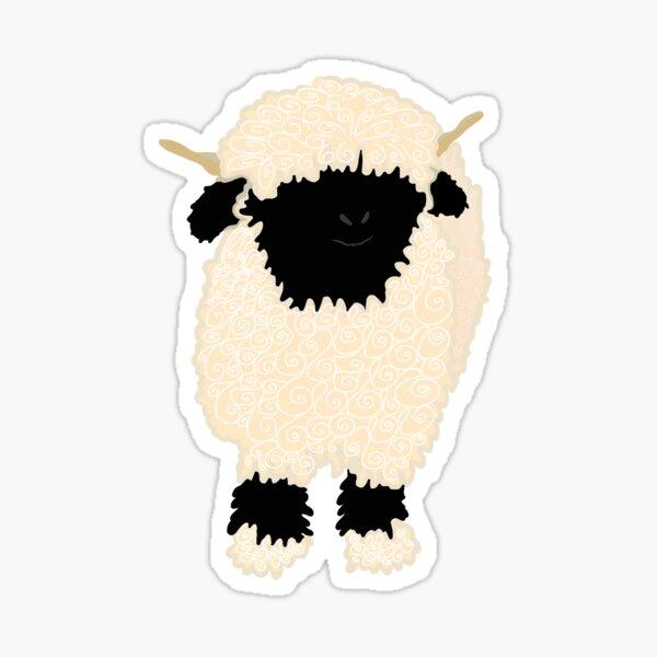 Black nose sheep Sticker