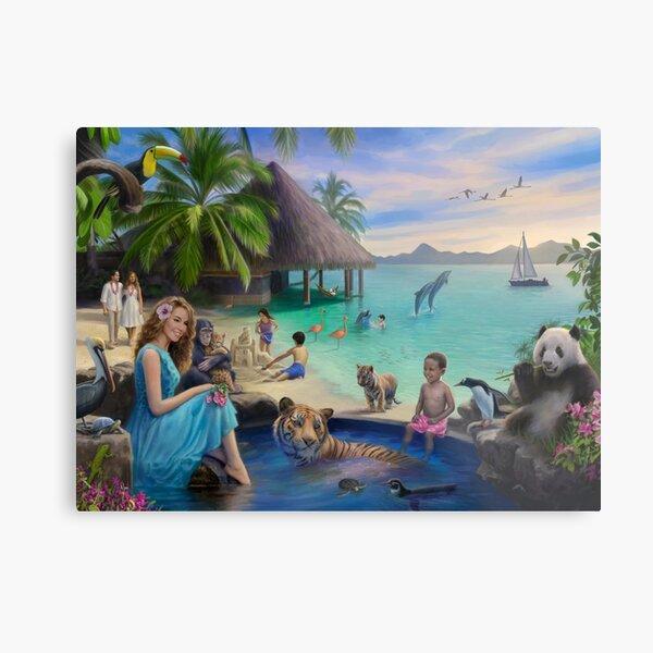 A Pool in Paradise Metal Print