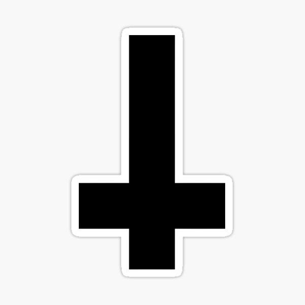 Cool Inverted cross. Atheist Sticker