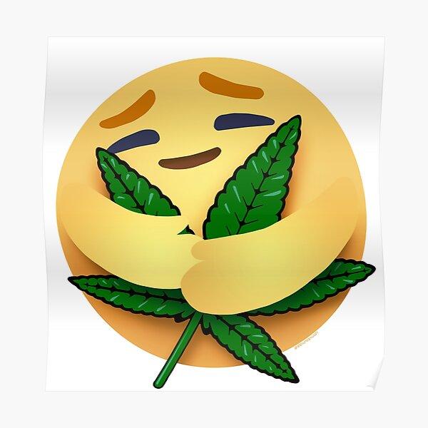Leaf Hugger Care Emoji Poster
