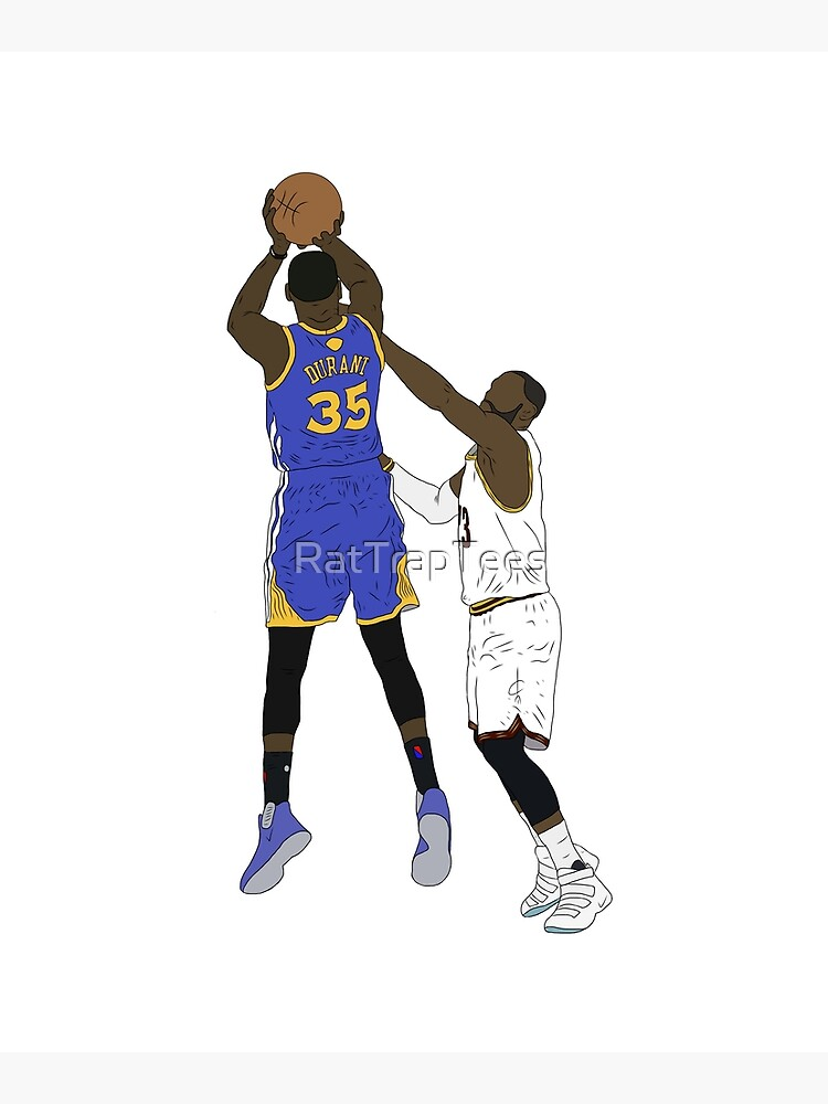 Kevin Durant Clutch Shot Over LeBron James by RatTrapTees