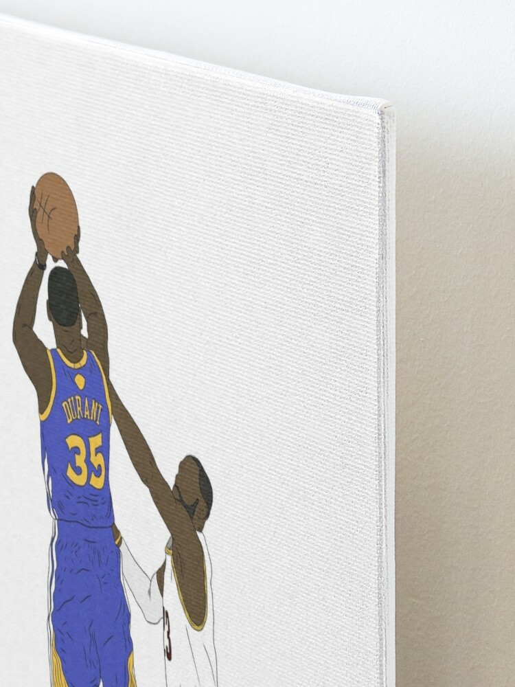 Alternate view of Kevin Durant Clutch Shot Over LeBron James Mounted Print
