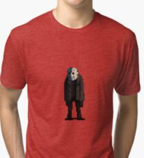 Jason Voorhees in pixels Tri-blend T-Shirt