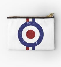 Weathered Target and stripes Studio Pouch