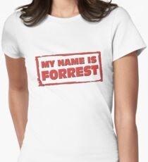 My name is Forrest Women's Fitted T-Shirt