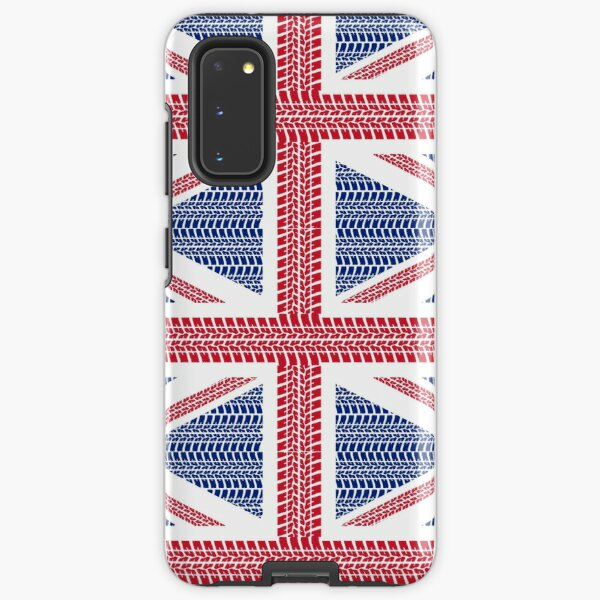 Tire track Union Jack British Flag Samsung Galaxy Tough Case