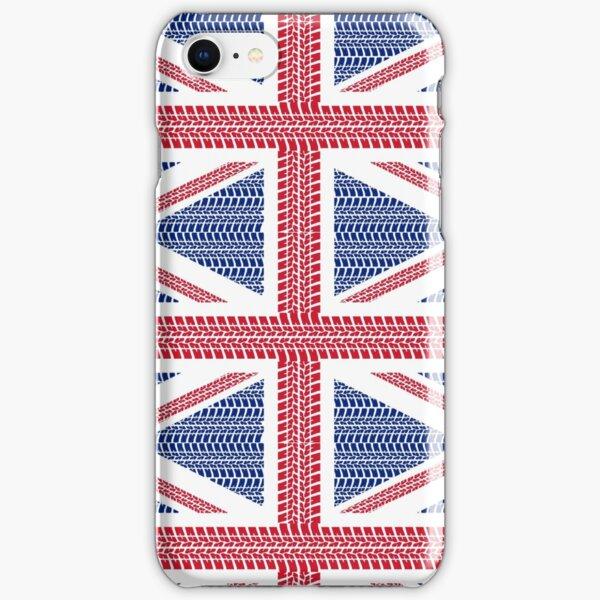 Tire track Union Jack British Flag iPhone Snap Case