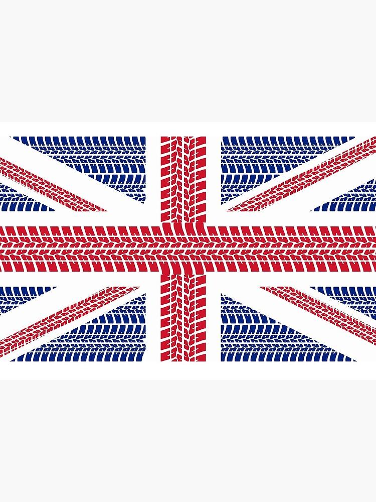 Tire track Union Jack British Flag by JustBritish