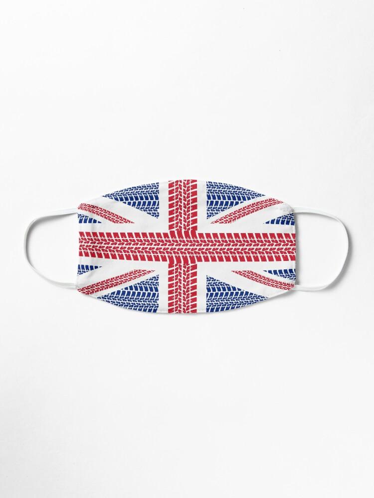 Alternate view of Tire track Union Jack British Flag Mask