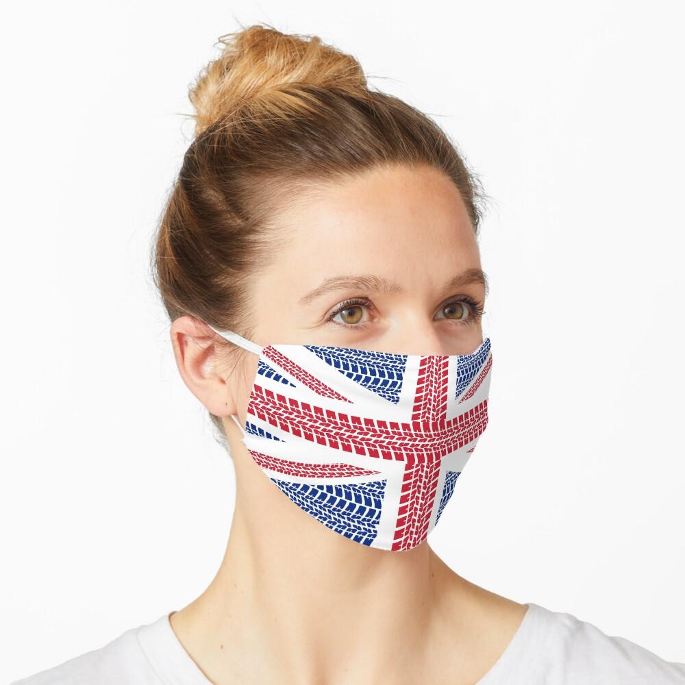 Tire track Union Jack British Flag Mask