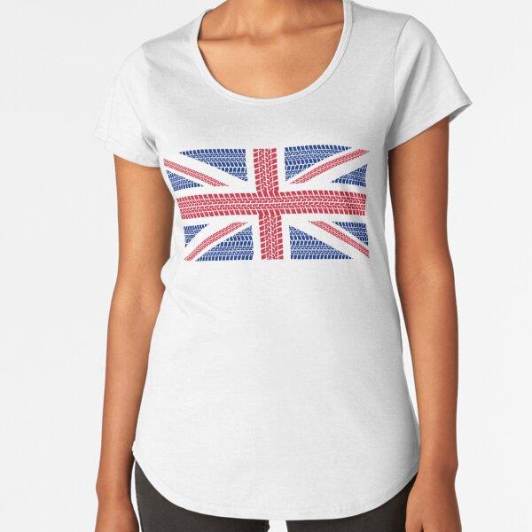Tire track Union Jack British Flag Premium Scoop T-Shirt