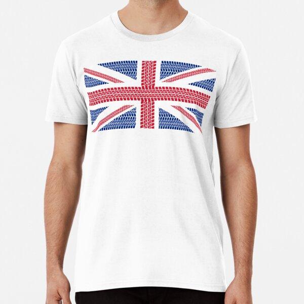 Tire track Union Jack British Flag Premium T-Shirt