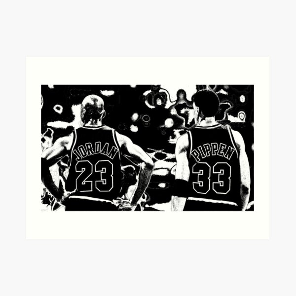 Michael Jordan y Scottie Pippen Lámina artística