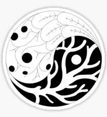 The living yin yang Sticker