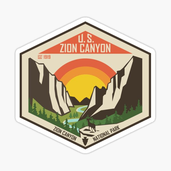 Zion National Park - Zion Canyon Sticker