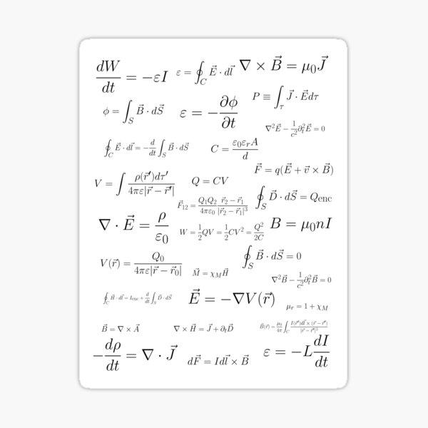 Physics - electromagnetism Sticker