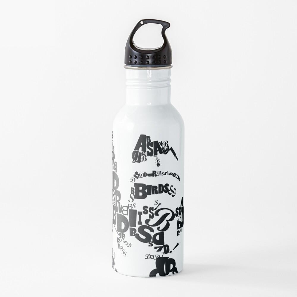 Alfred Hitchcock Fan Art Water Bottle