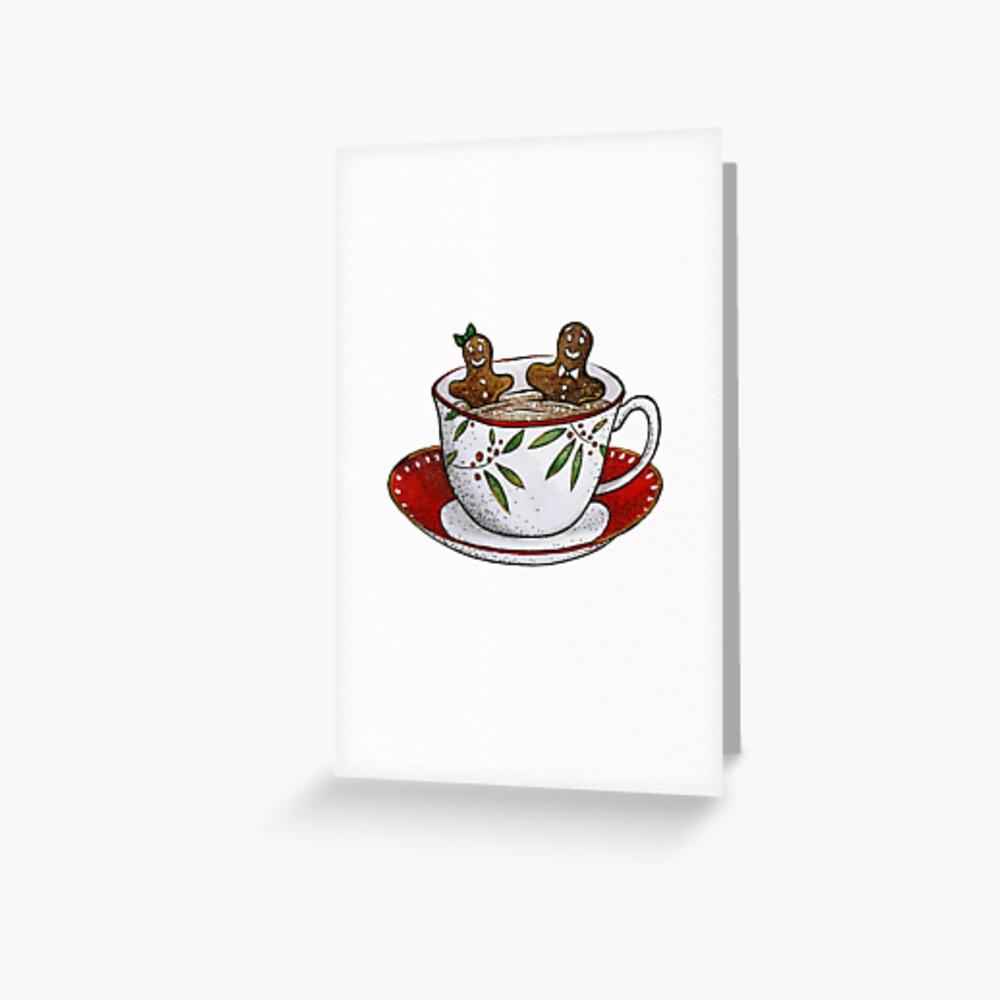 Gingerbread Hot Tub Greeting Card