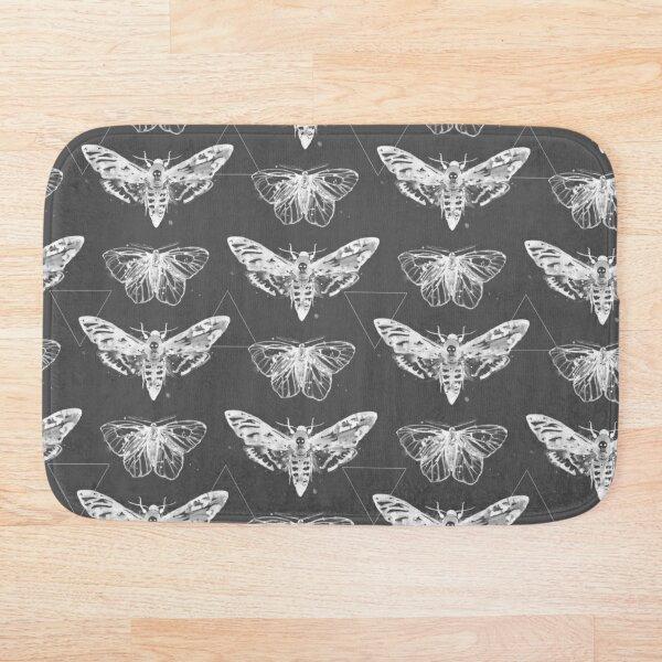 Geometric Moths - inverted Bath Mat