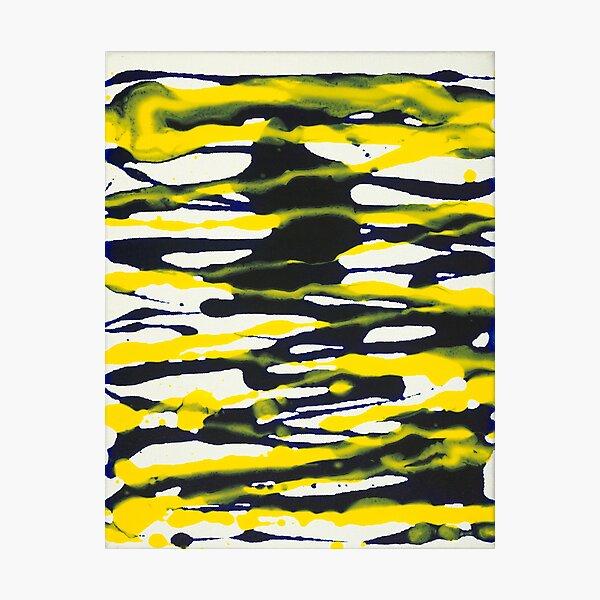Poured Horizontal Stripes Photographic Print