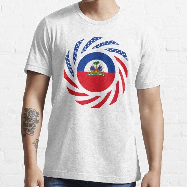 Haitian American Multinational Patriot Flag Series Essential T-Shirt