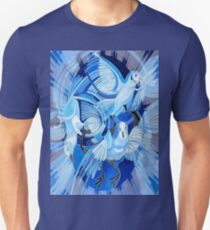 Muge's Pigeons in Blue Unisex T-Shirt