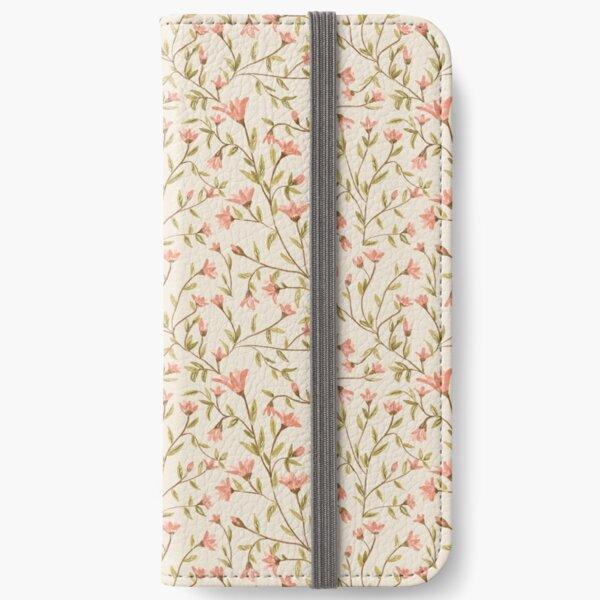 Motif floral Vintage Étui portefeuille iPhone