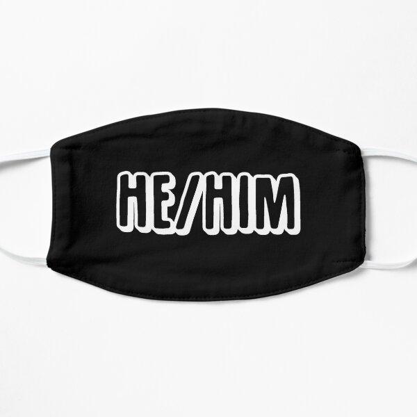 Pronoun Mask - He/Him/His Flat Mask