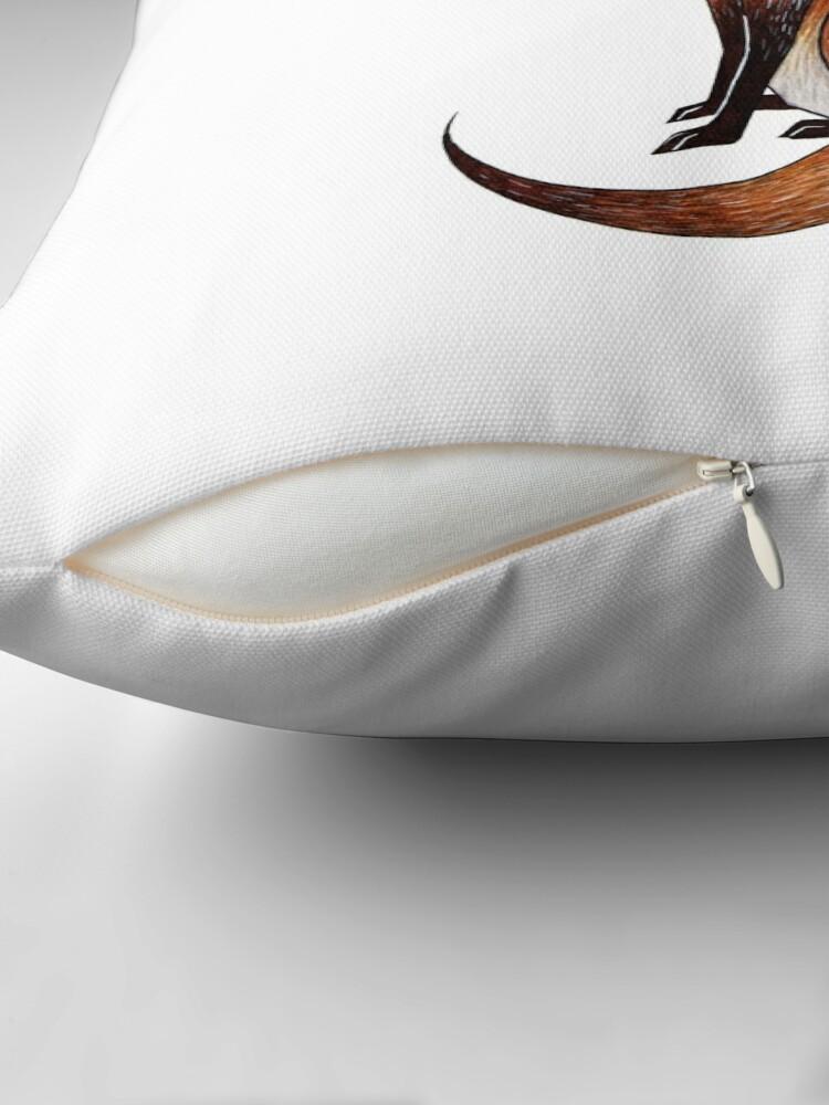 Alternate view of Serious Fox Throw Pillow