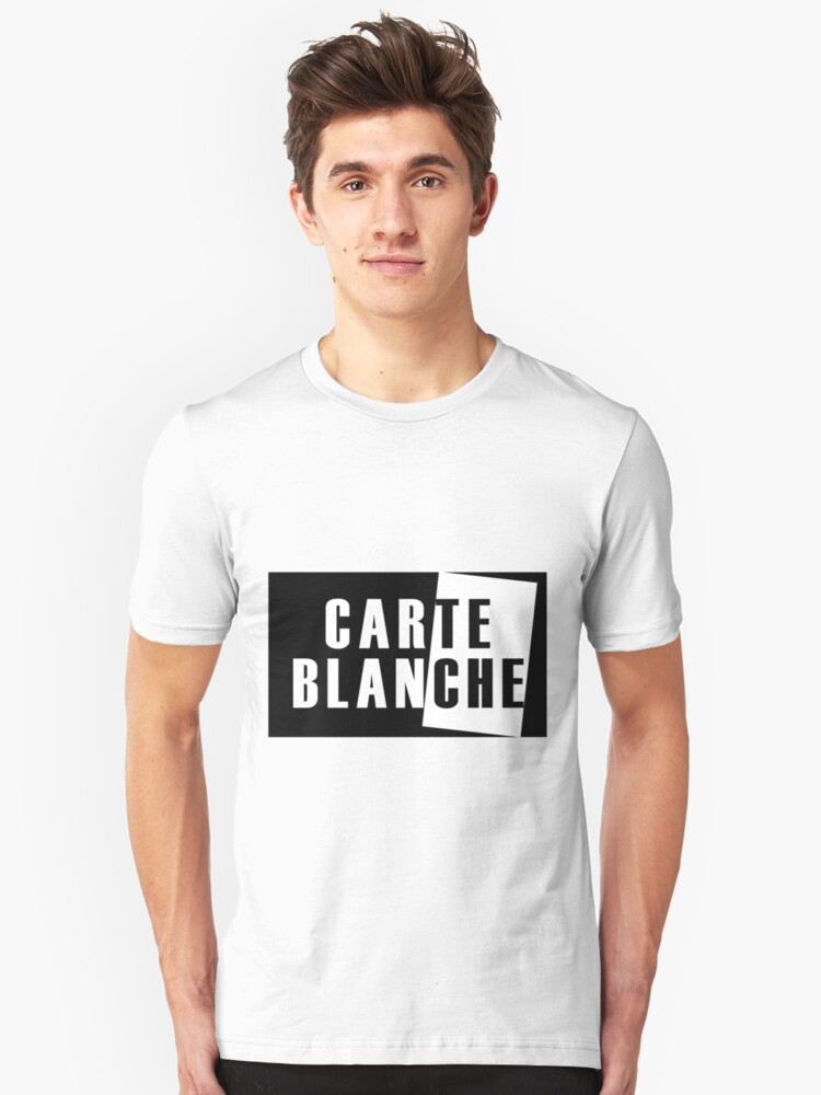 Carte Blanche Stickers and T-Shirt Unisex T-Shirt Front
