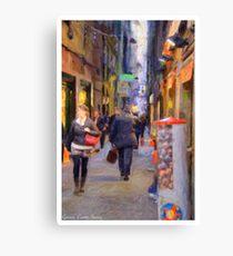Alley Genoa two Canvas Print