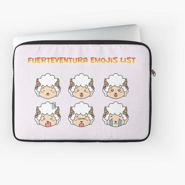 Fuerteventura Emojis List Laptop Sleeve