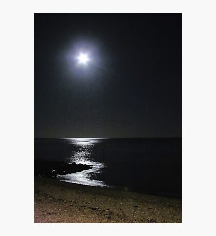 *Moonlight on Lyme Bay* Photographic Print