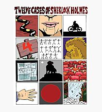 12 Cases of Sherlock Holmes Photographic Print