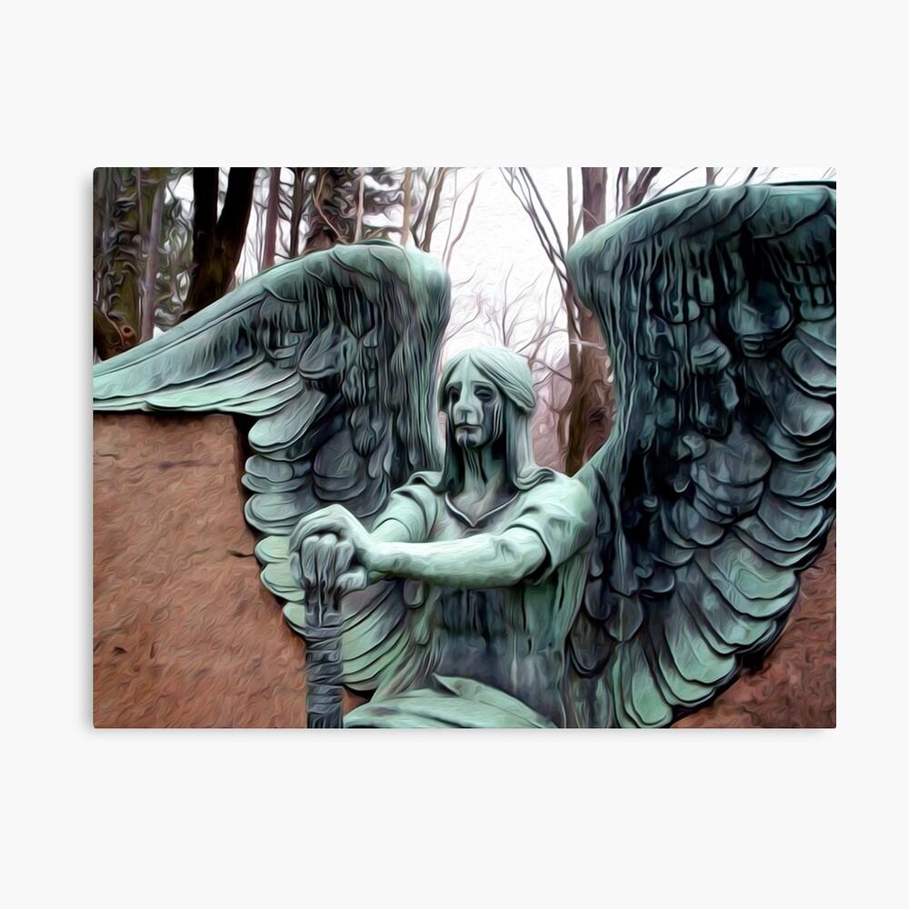 Cemetery Angel Photo Coasters set of 4
