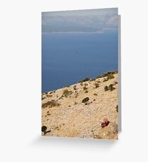 car beach adriatic Greeting Card