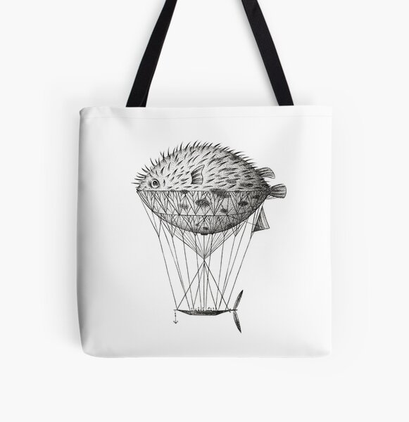 Airfish Express All Over Print Tote Bag