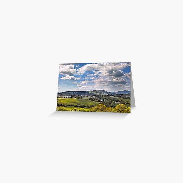 Sun Dappled Hills Greeting Card
