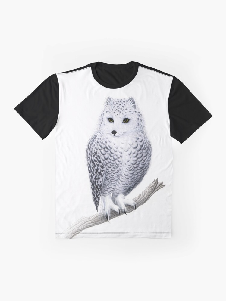 Alternate view of Snowy Fowl Graphic T-Shirt
