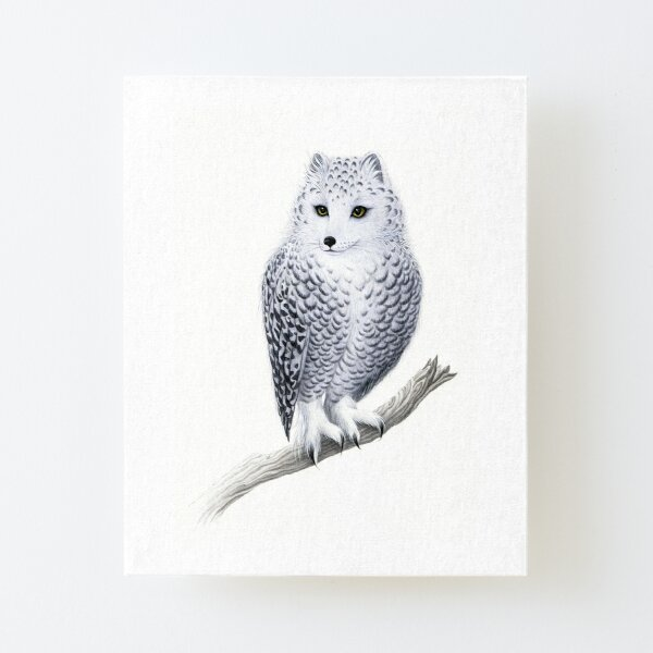 Snowy Fowl Canvas Mounted Print