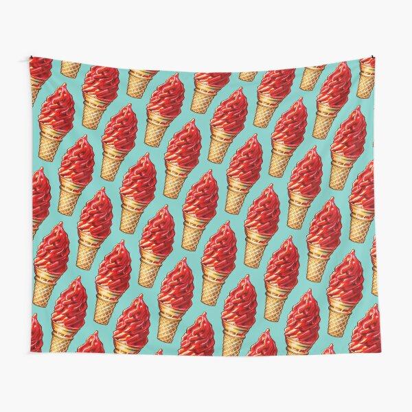 Cherry Dip Ice Cream 2 Pattern Tapestry