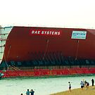 Part of the navys new aircraft carrier  by thermosoflask