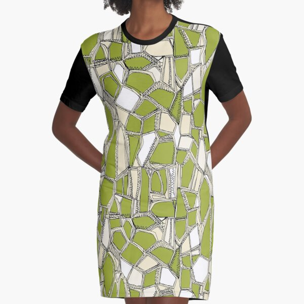 BROKEN POP citron Graphic T-Shirt Dress