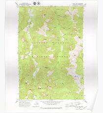USGS Topo Map Washington State WA Mc Coy Peak 242239 1965 24000 Poster